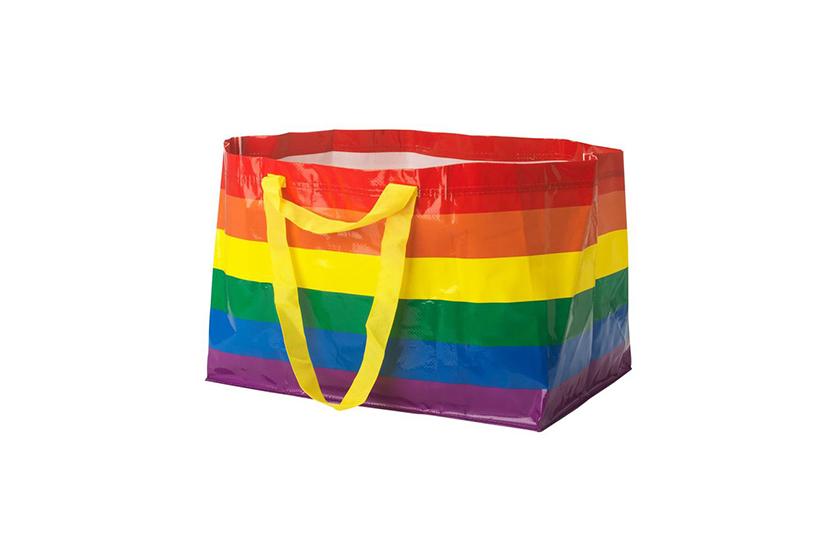 ikea rainbow frakta kvanting shopping bag pride month