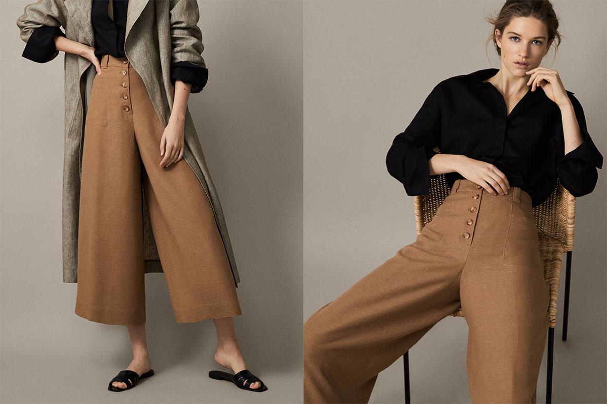 massimo dutti wide pants