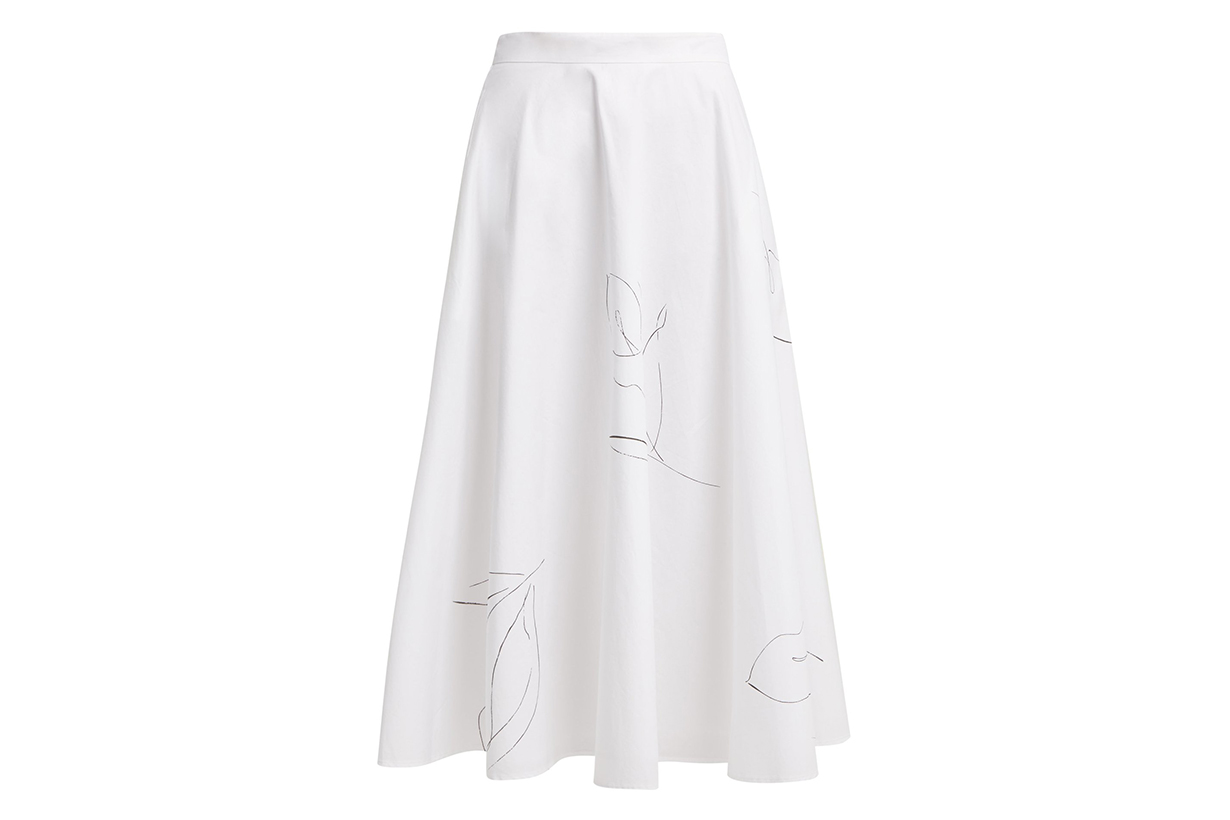 Kew A-Line Cotton-Poplin Skirt