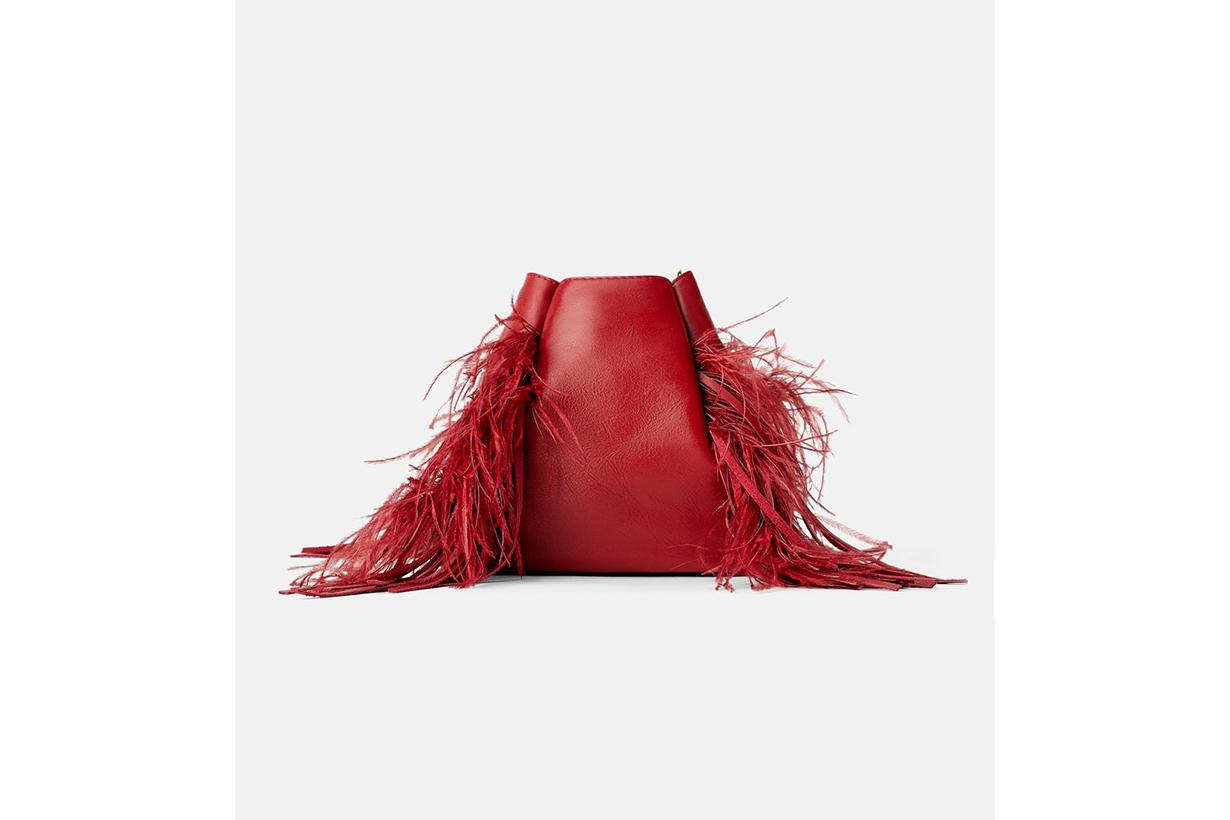Zara Leather Bucket Bag