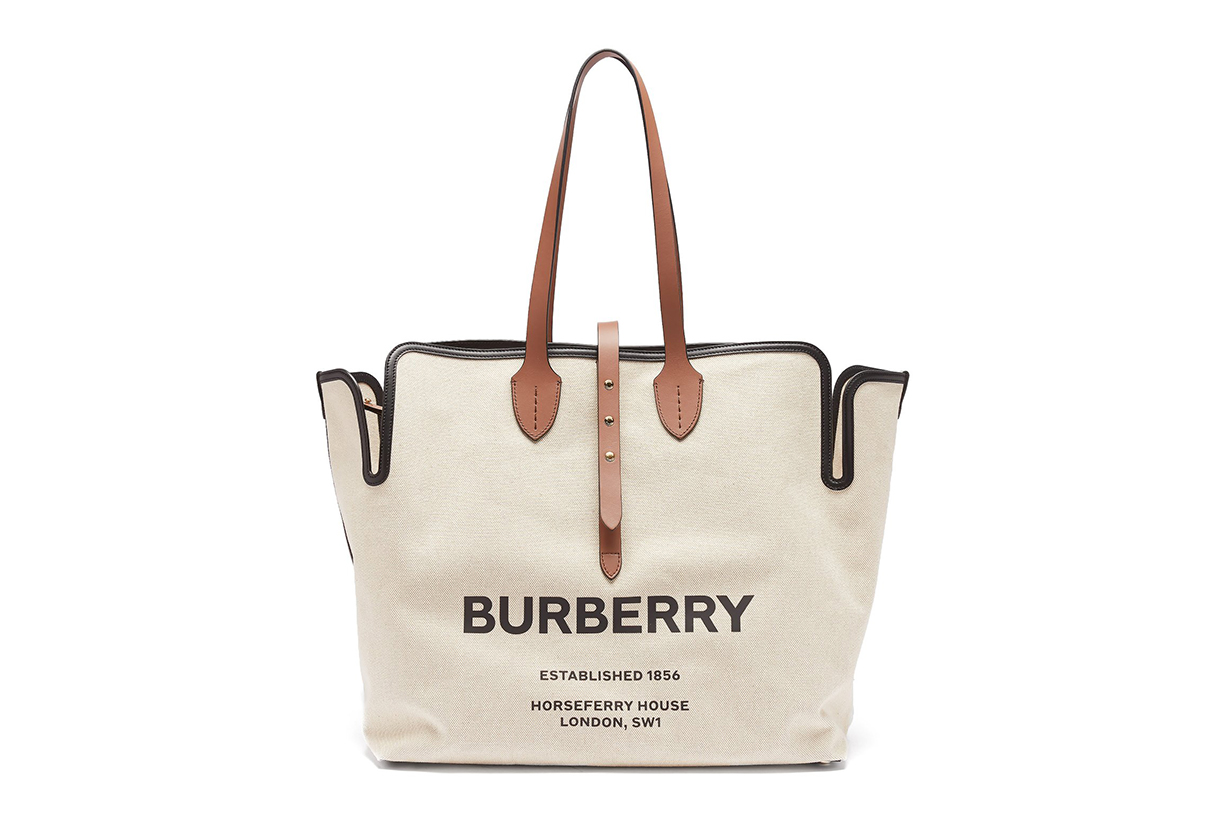 Logo-Print Canvas Tote Bag