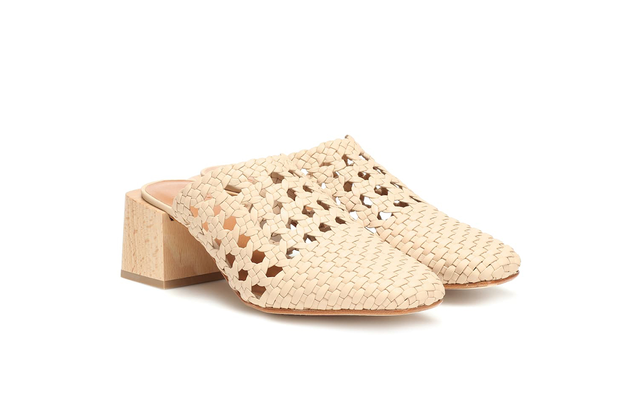 LOQ Ines Woven Leather Mules