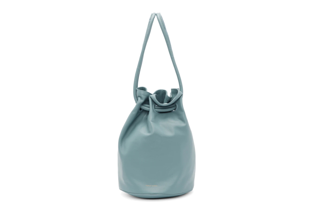 Mansur Gavriel Blue Drawstring Bag