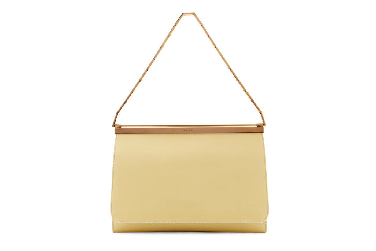 Marni Pink & Yellow Double Cache Bag