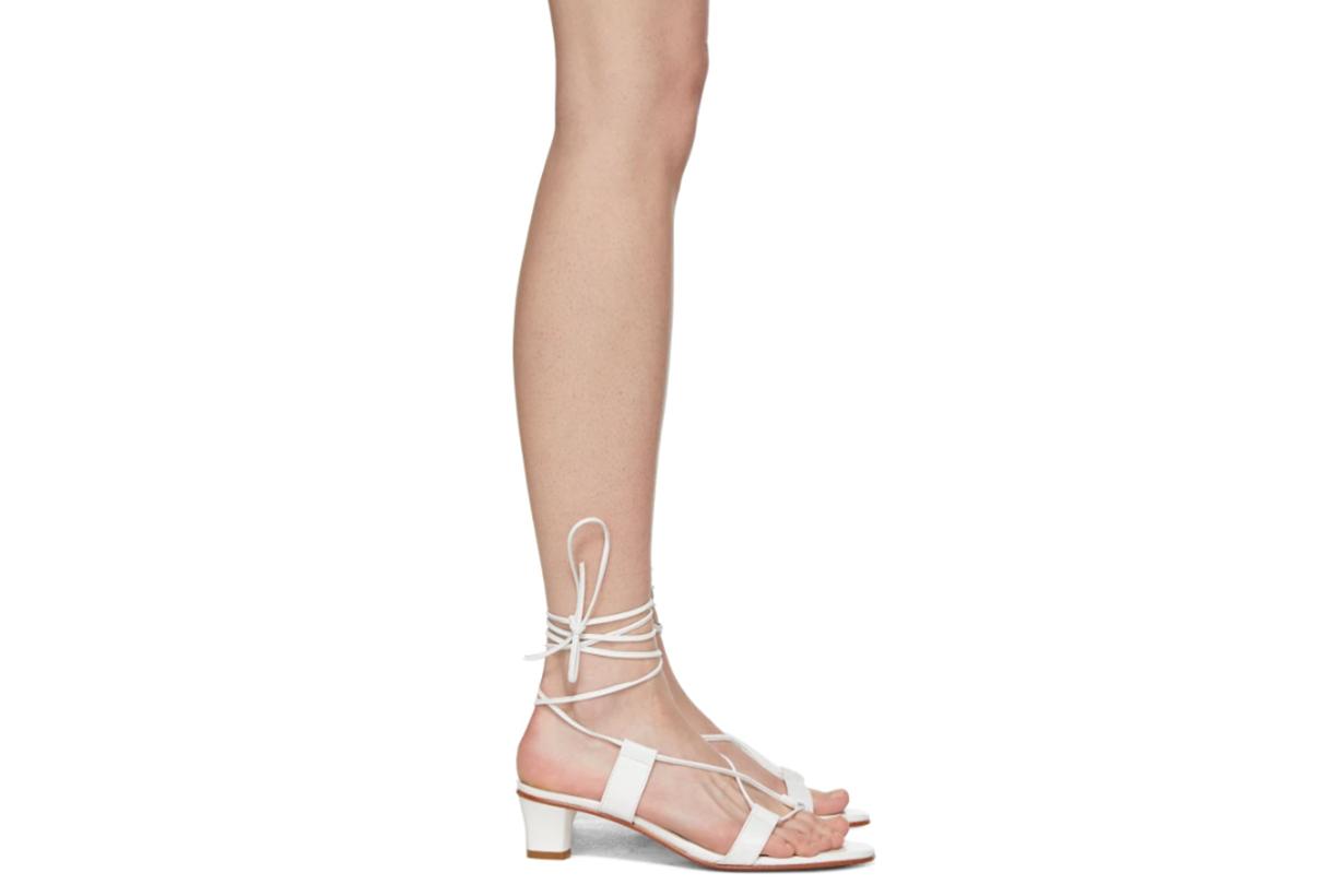 Martiniano White Pavone Sandals