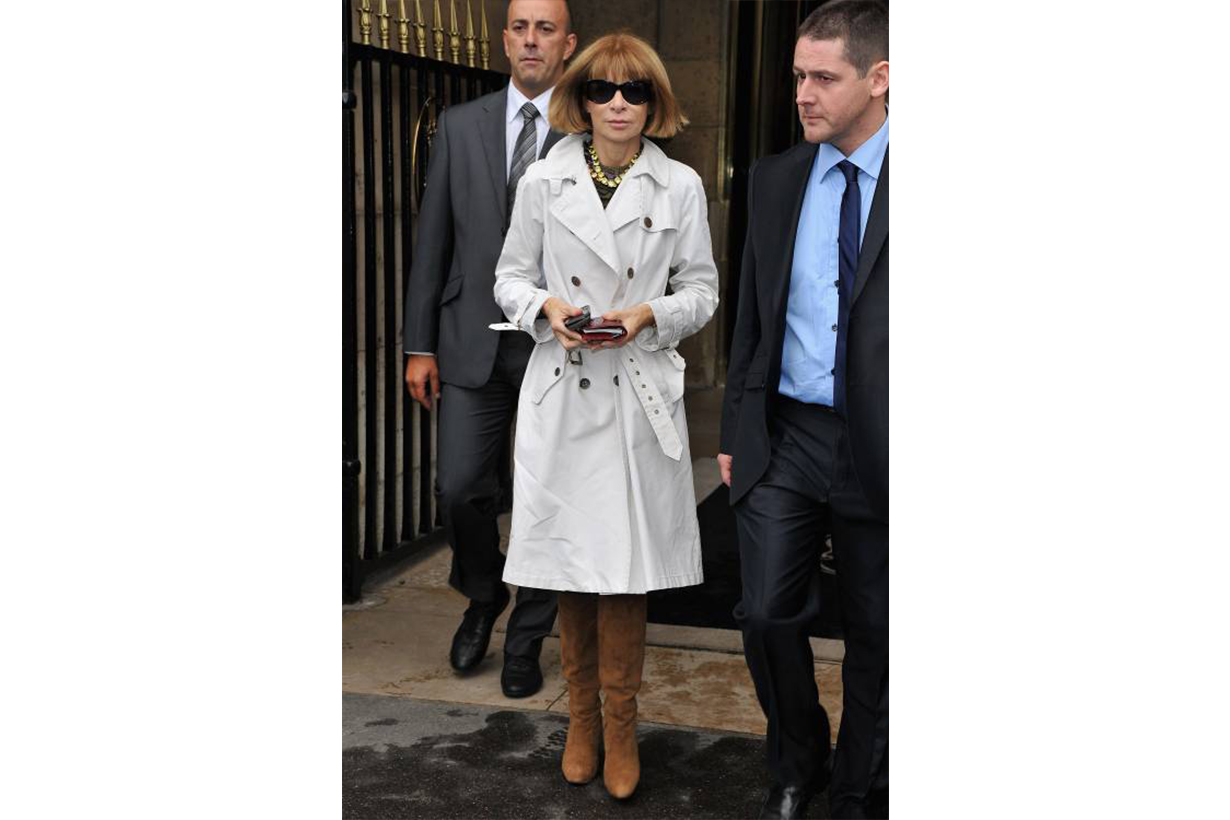 Anna Wintour White Trench Coat