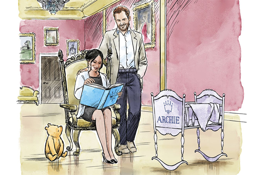meghan-markle-prince-harry-baby-archie-harrison-disney-winnie-the-pooh-animation-gift