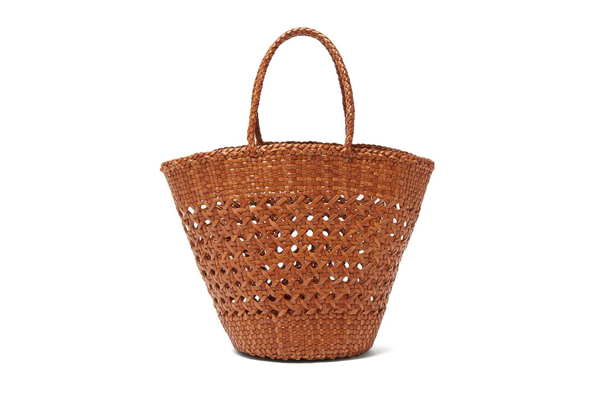 Dragon Diffusion Myra Woven-Leather Basket Bag