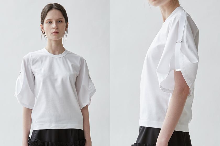 Noir Kei Ninomiya Cotton Jersey & Poplin Top