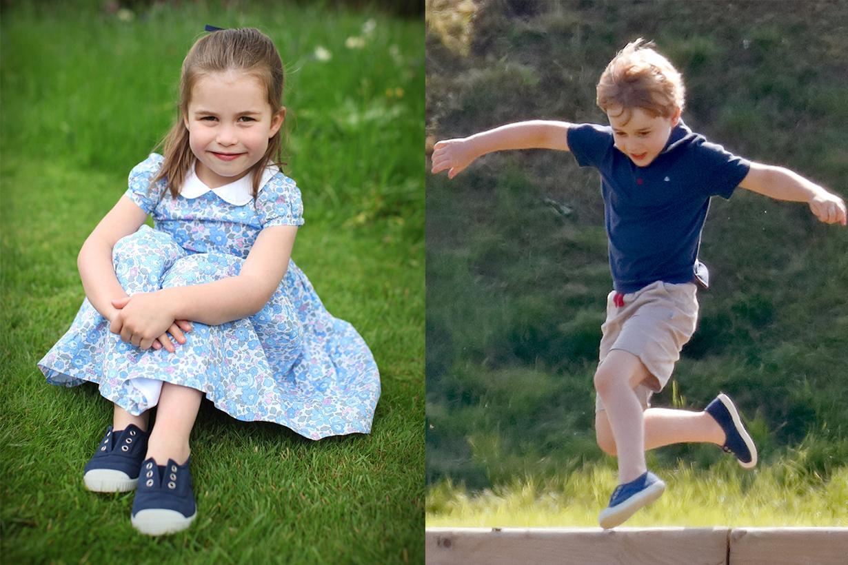 Princess Charlotte Birthday Portrait Hampton Canvas Shoes