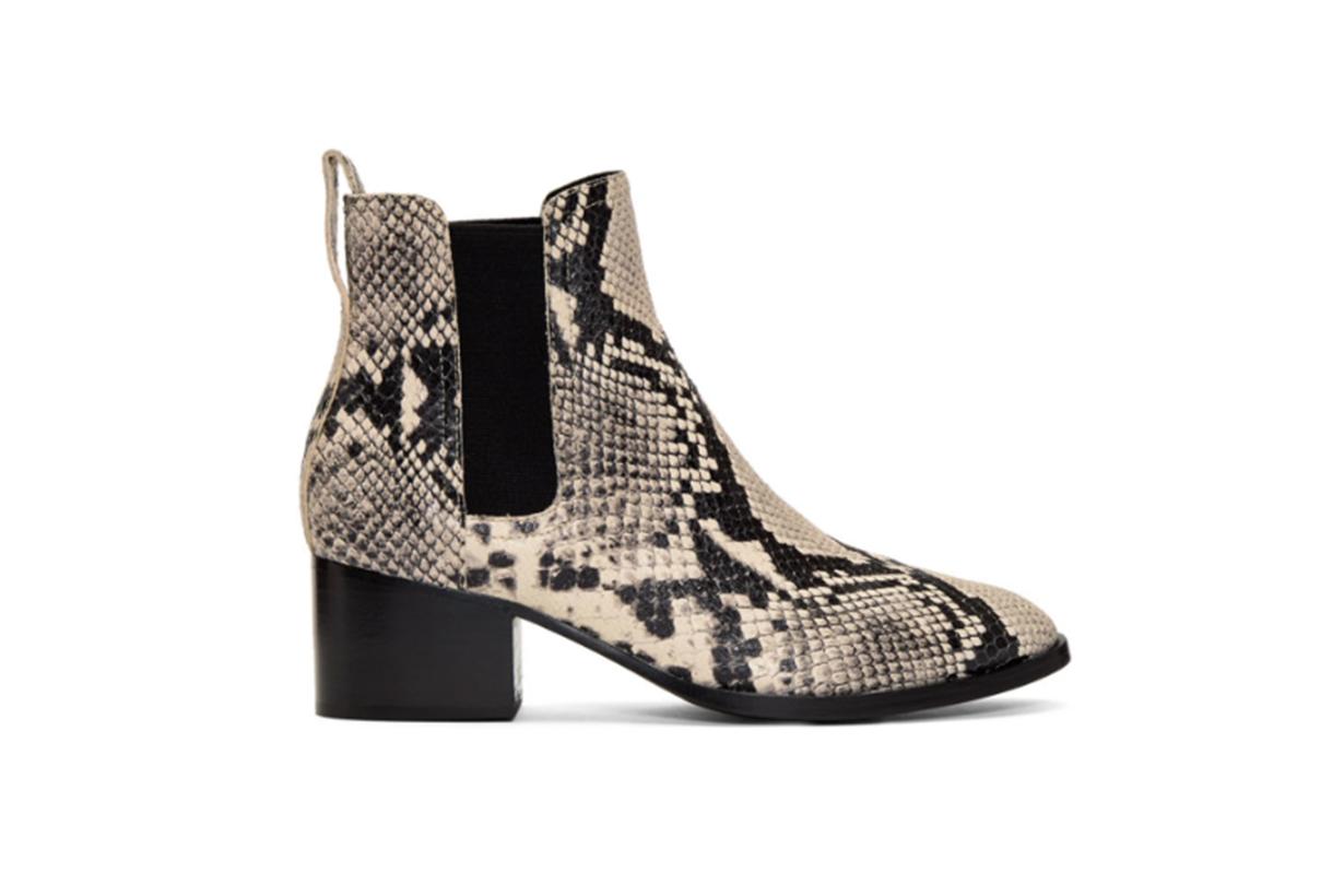 rag & bone Black & White Snake Walker Boots
