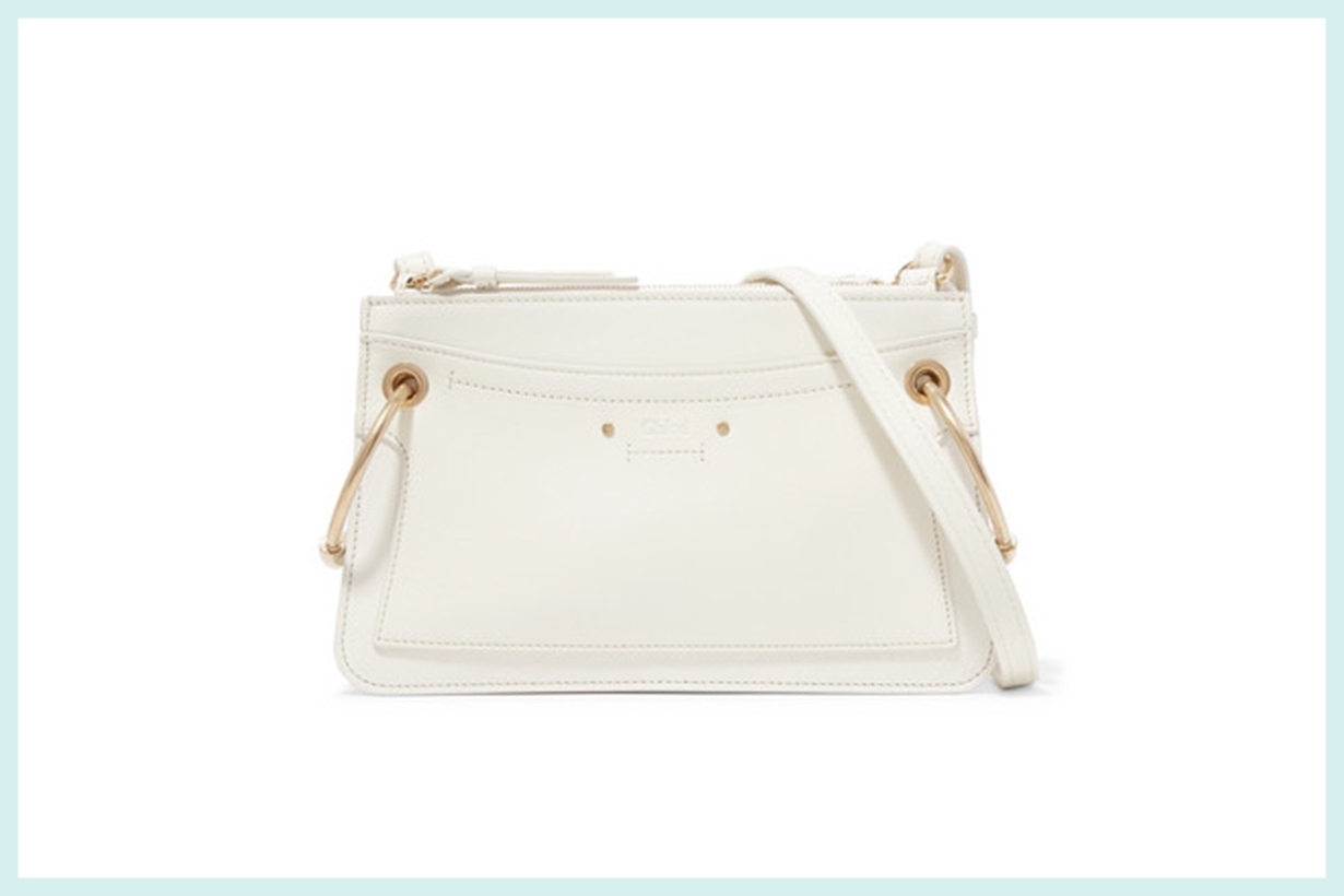 Roy Mini Leather and Suede Shoulder Bag
