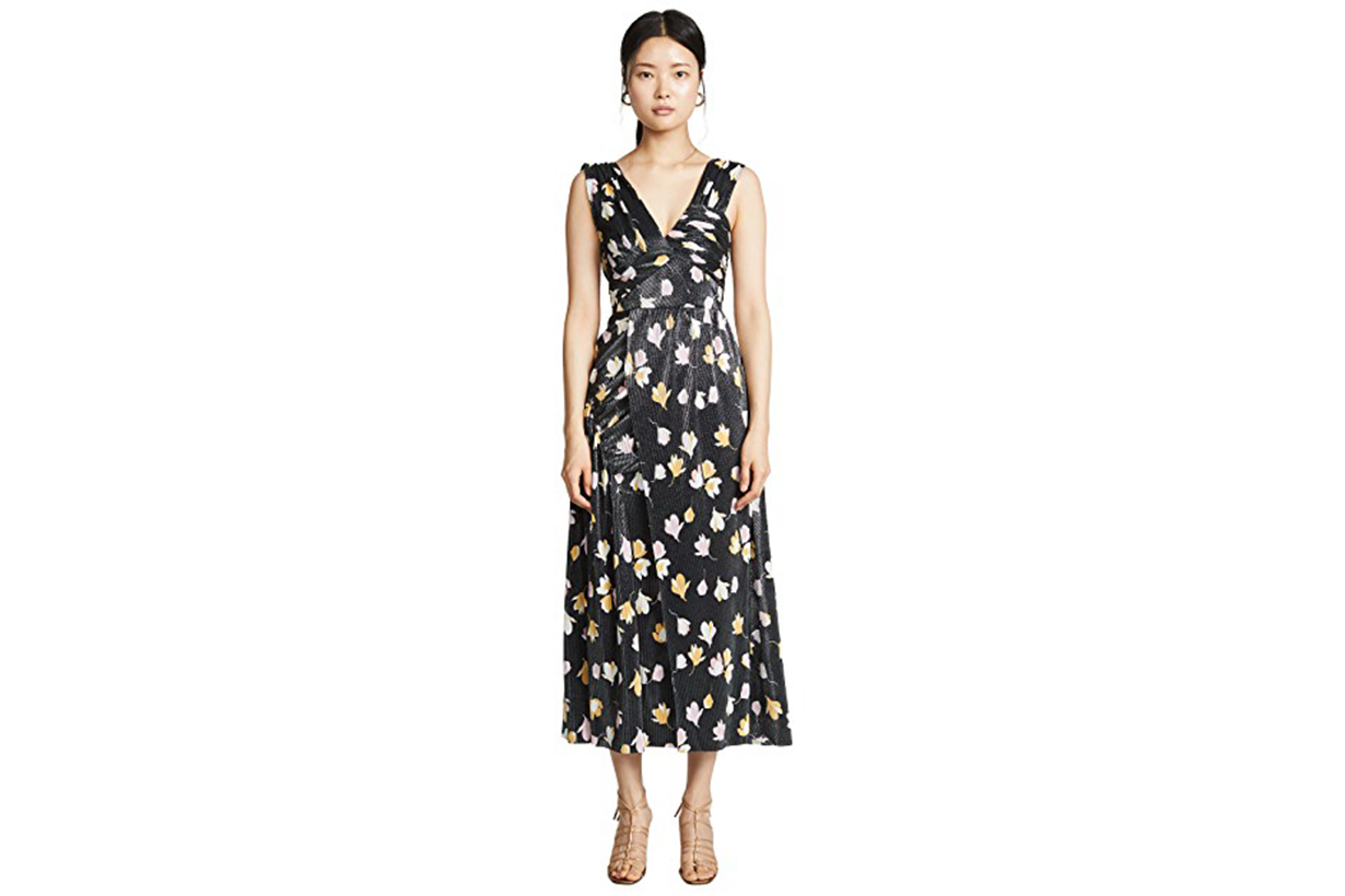 Self Portrait Floral Printed Plisse Dress