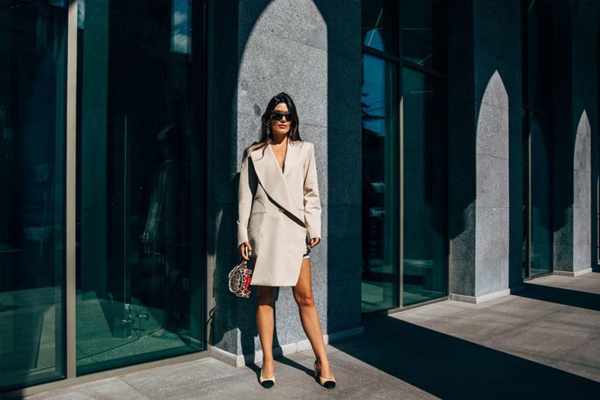 White Suit Blazer Street Style 2019