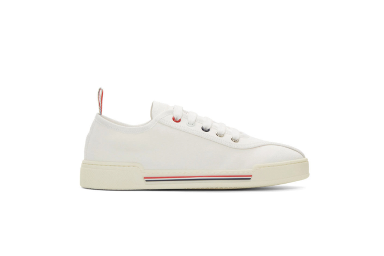 Thom Browne White Tricolor Cupsole Sneakers