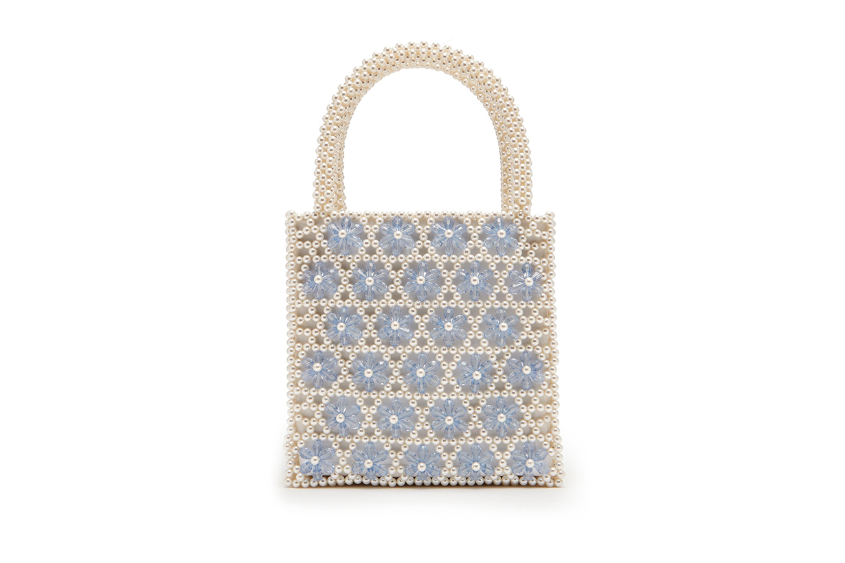Venezia Faux-Pearl Beaded Bag