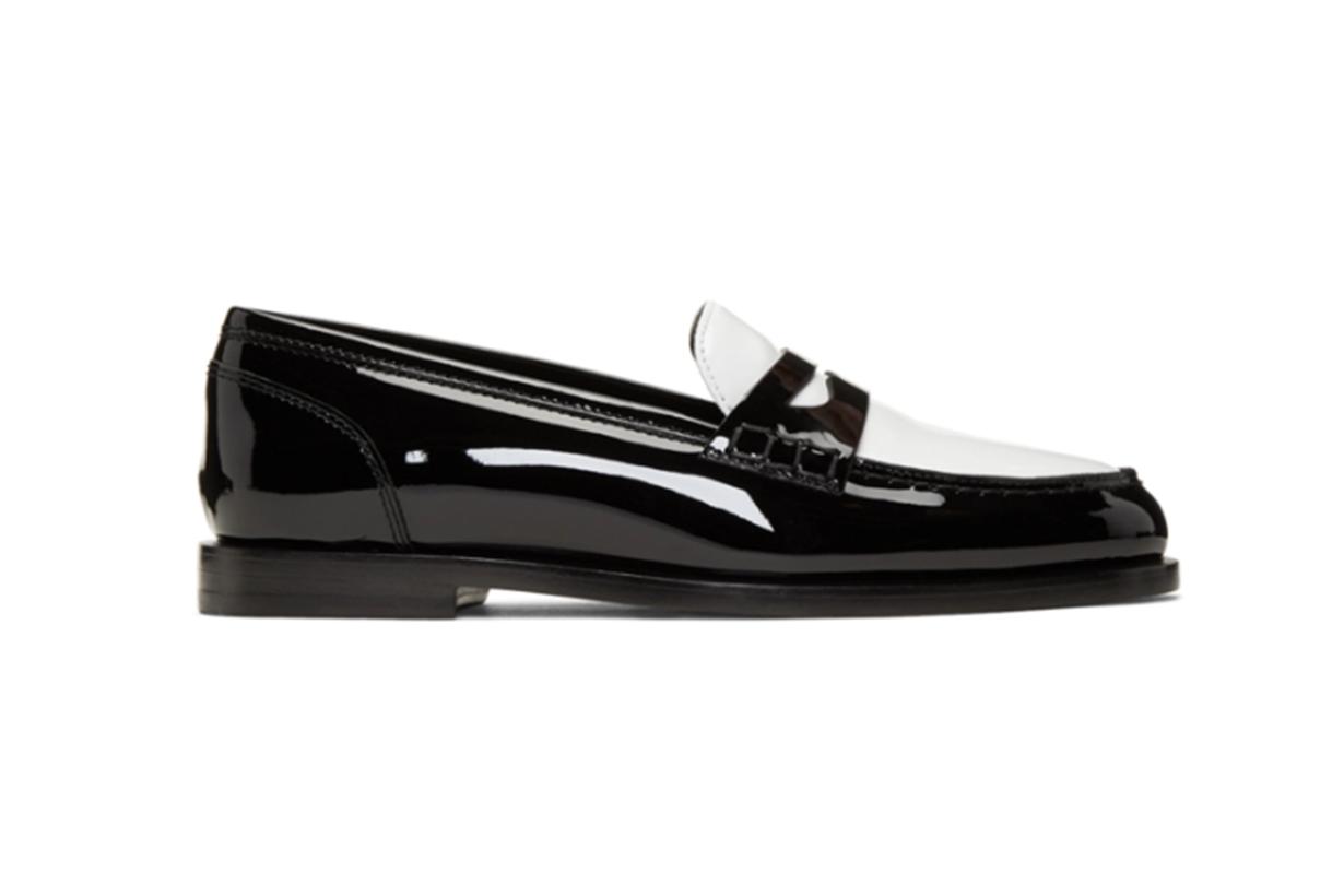 Balmain Black & White Kriss Loafers