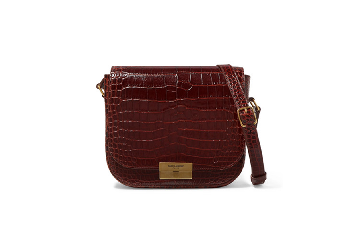 Betty Croc-Effect Leather Shoulder Bag