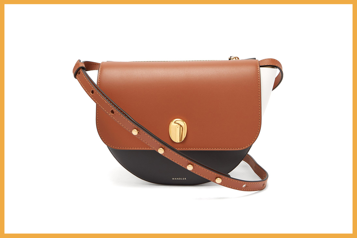 Billy Contrasting Leather Cross-Body Bag