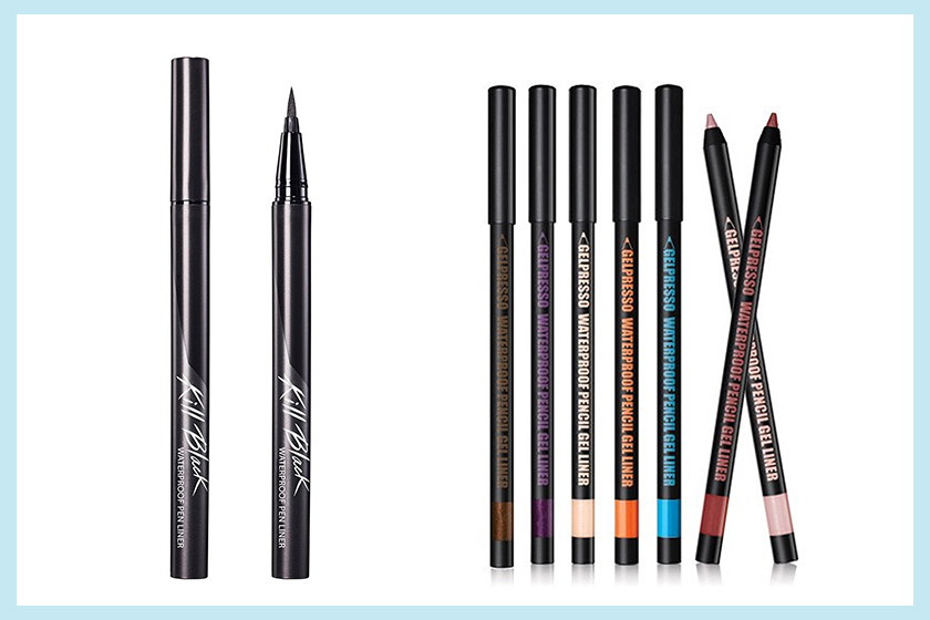 Clio Waterproof Pen Liner + Clio Gelpresso Waterproof Pencil Gel Liner