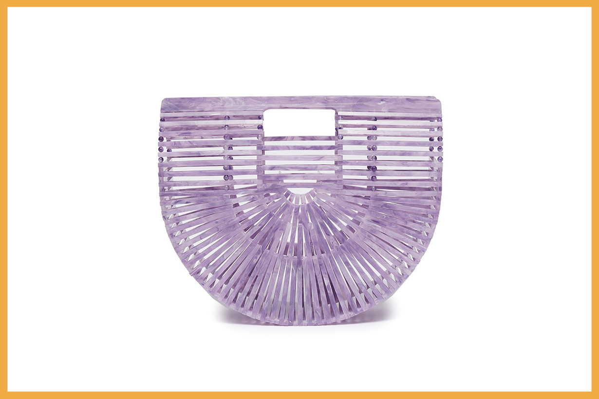 Cult Gaia 'ARK' Acrylic Small Caged Saddle Bag