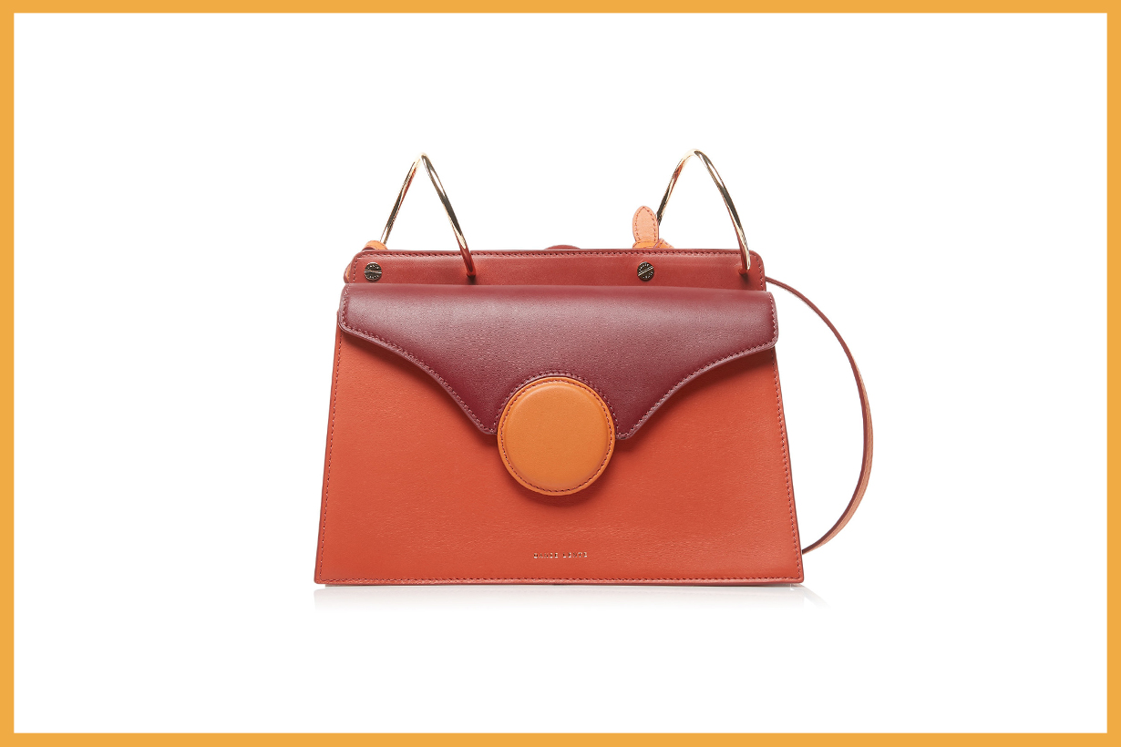 Danse Lente Phoebe Color-Blocked Leather Shoulder Bag