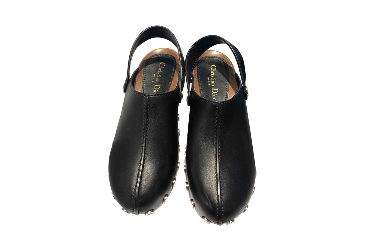 Diorquake Leather Clogs