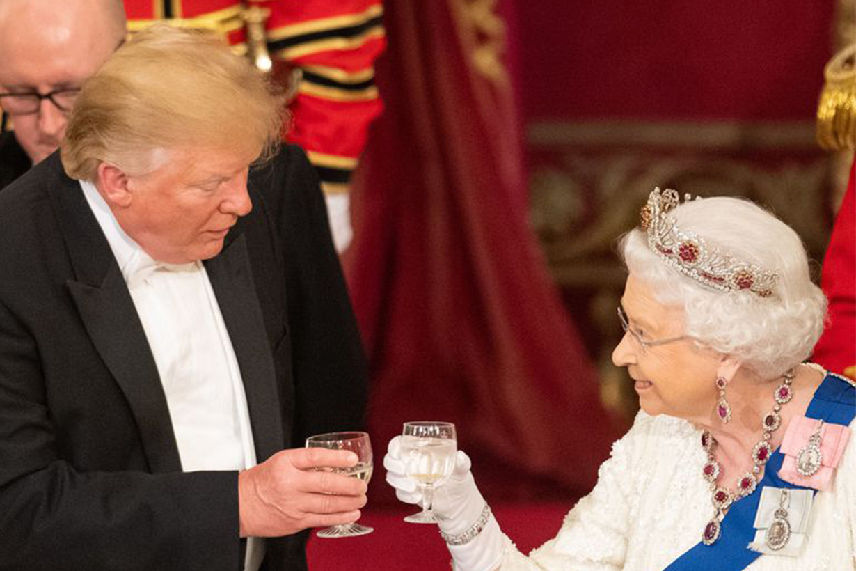 Donald Trump Queen British Royal