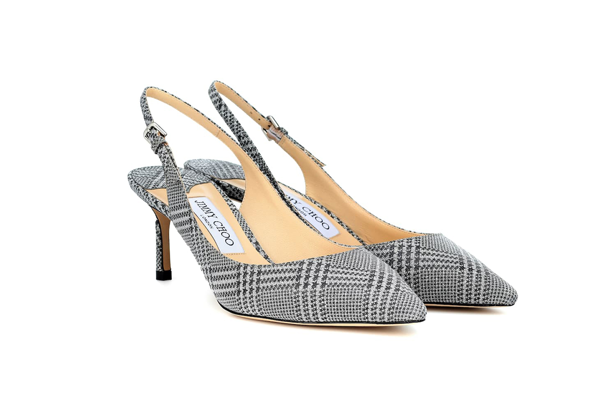 JIMMY CHOO Erin 60 Plaid Slingback Pumps