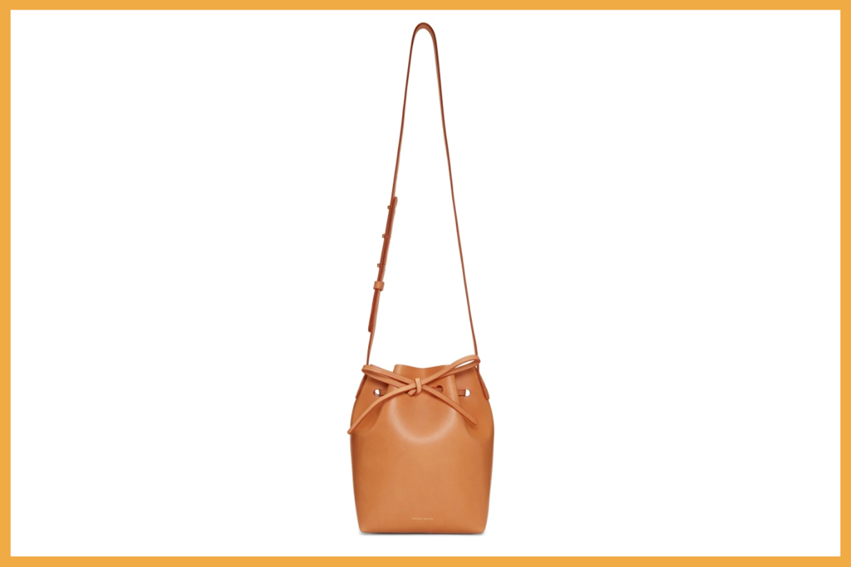 Mansur Gavriel Tan Mini Bucket Bag