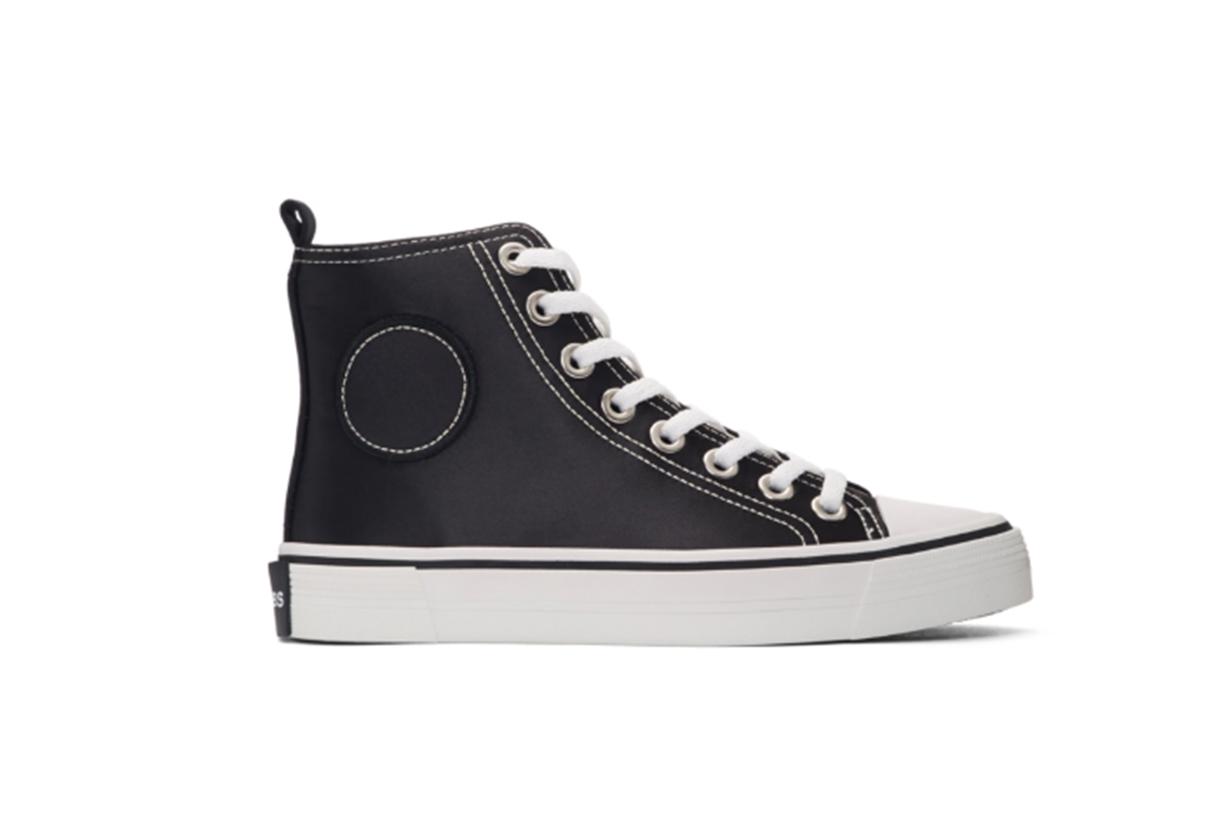 Marc Jacobs Black Redux Grunge Satin Sneakers
