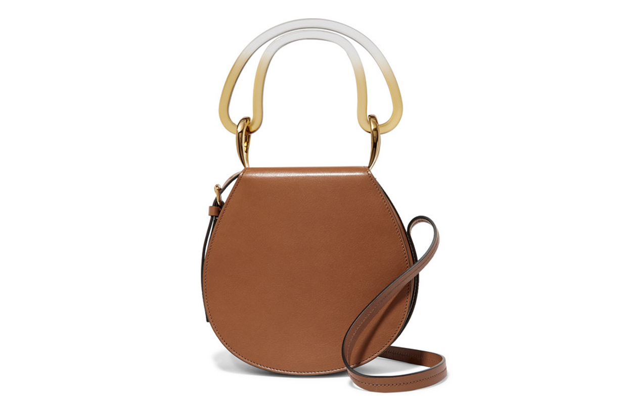 Melville Acrylic-Trimmed Leather Shoulder Bag