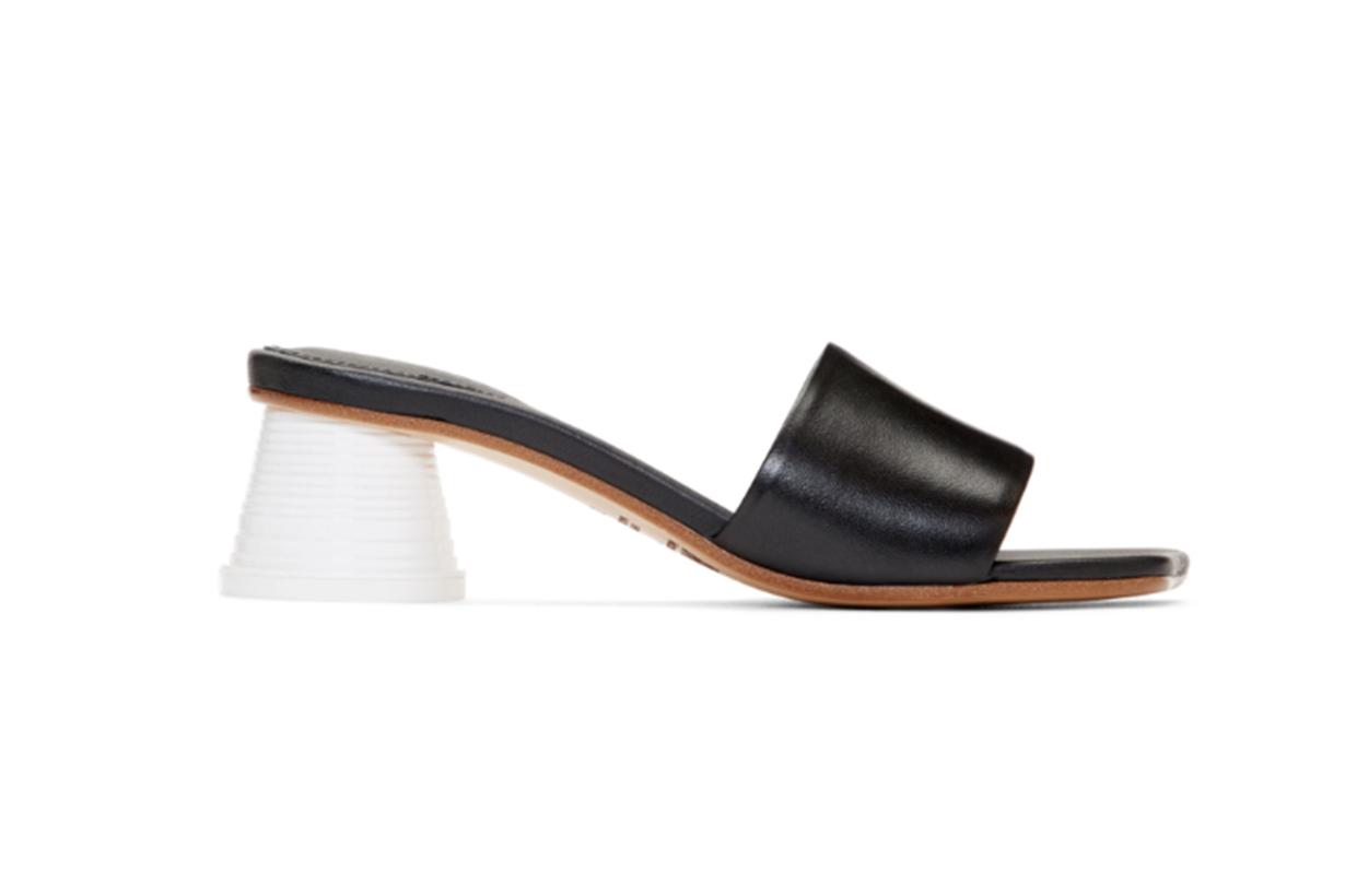 MM6 Maison Margiela Black Expresso Cup Heel Sandals