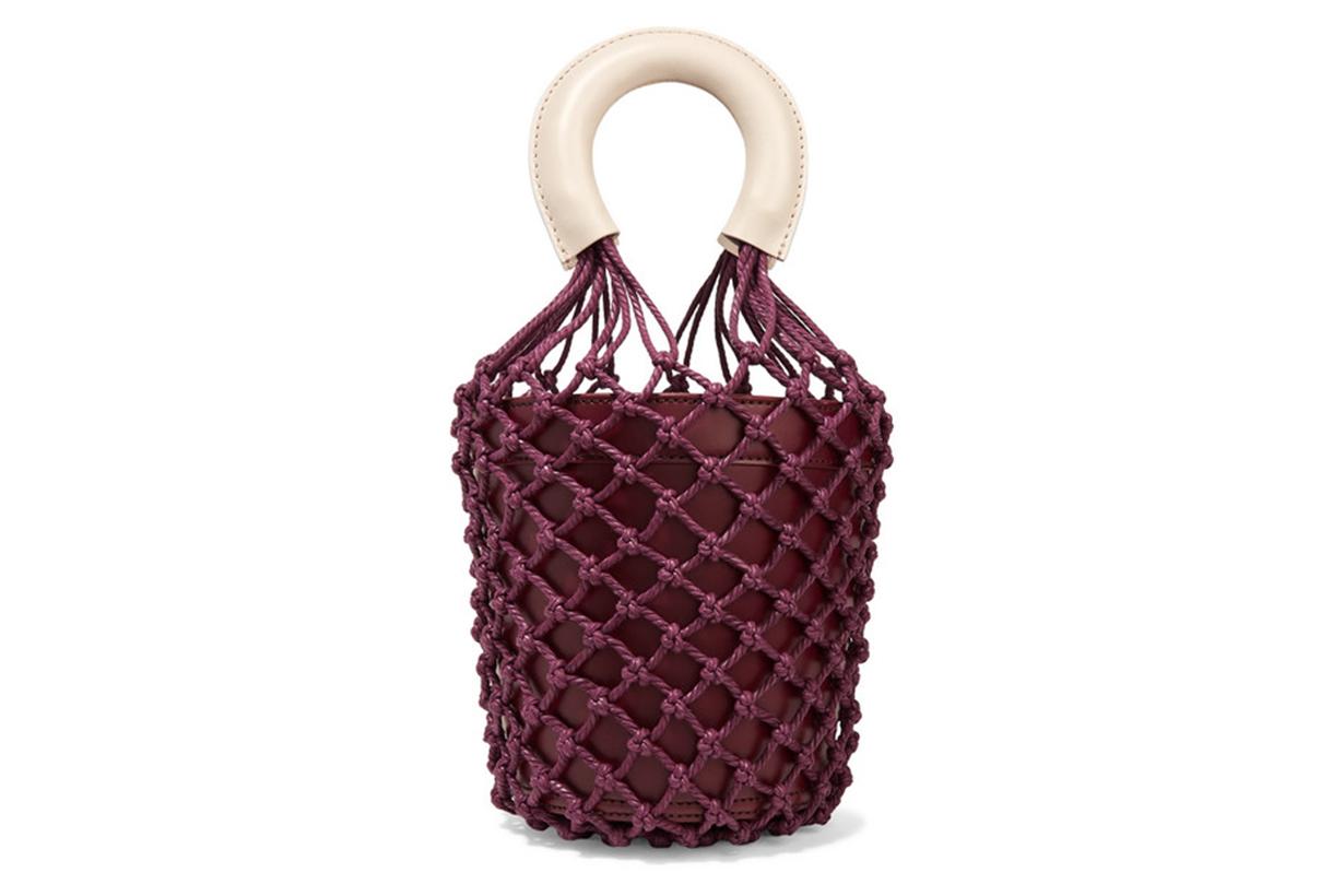 Moreau Leather and Macramé Bucket Bag