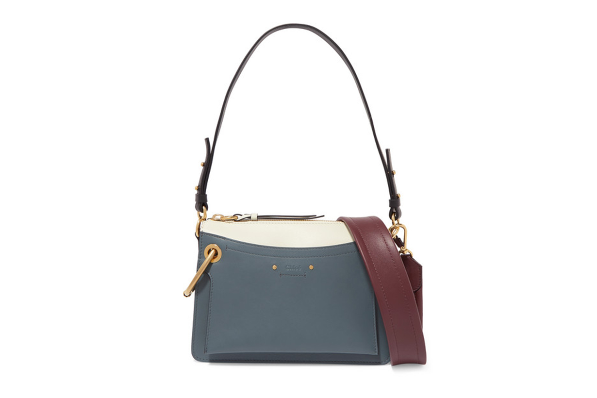 Roy Day Small Leather and Suede Shoulder Bag