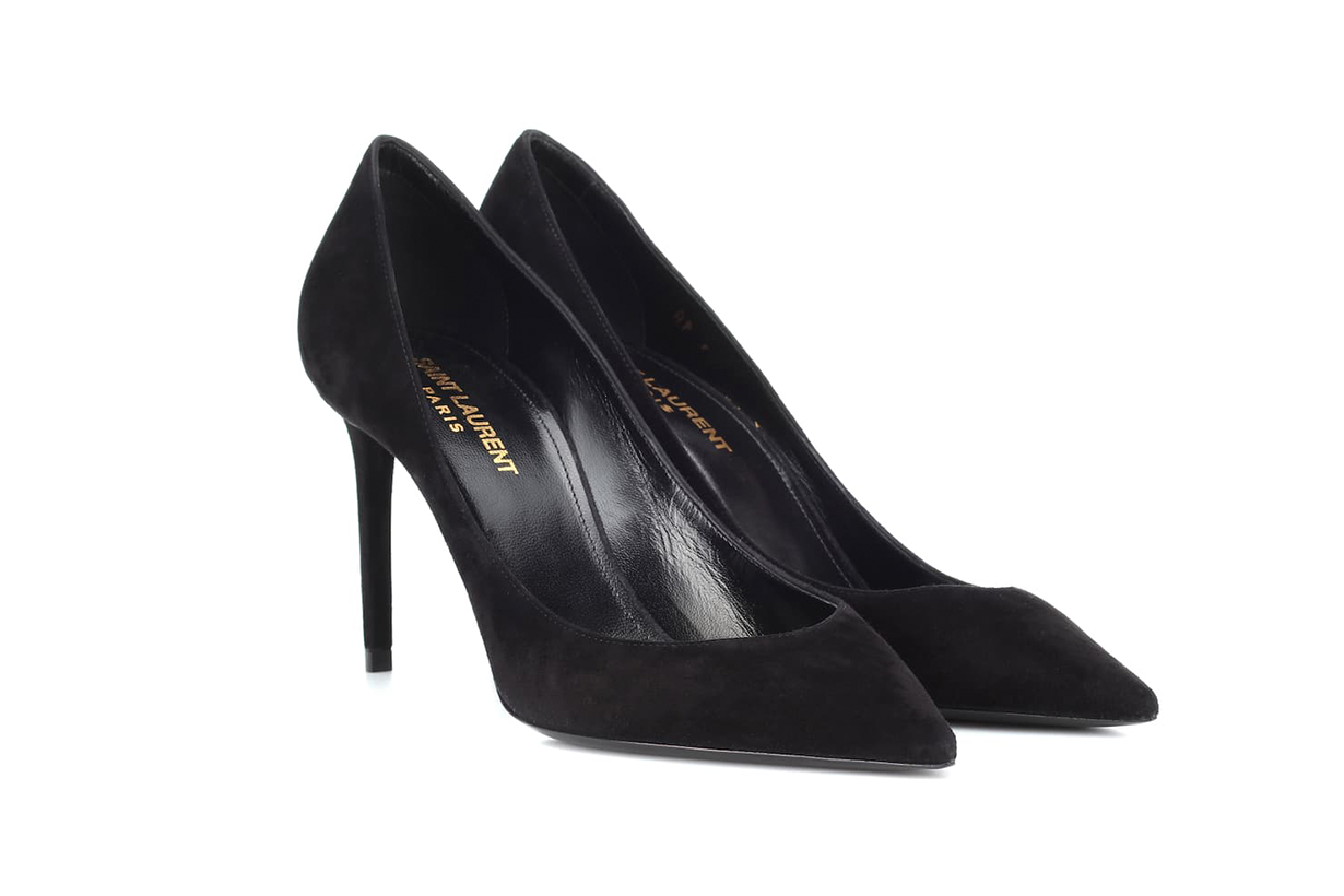 SAINT LAURENT Zoe 85 Suede Pumps