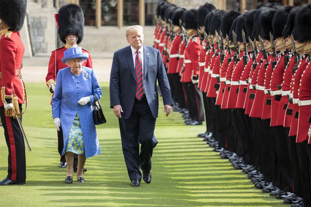 Queen Elizabeth II Donald Trump