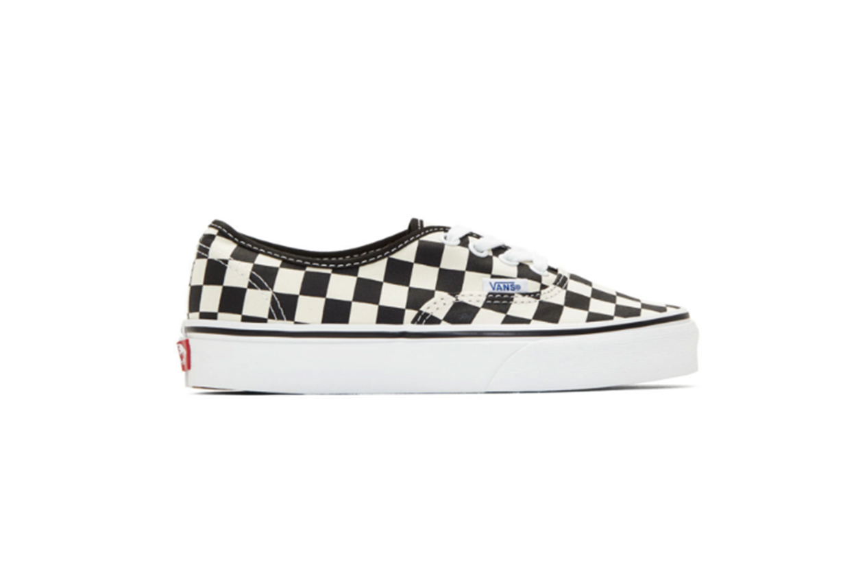 Vans Black & Off-White Checkerboard Authentic Sneakers