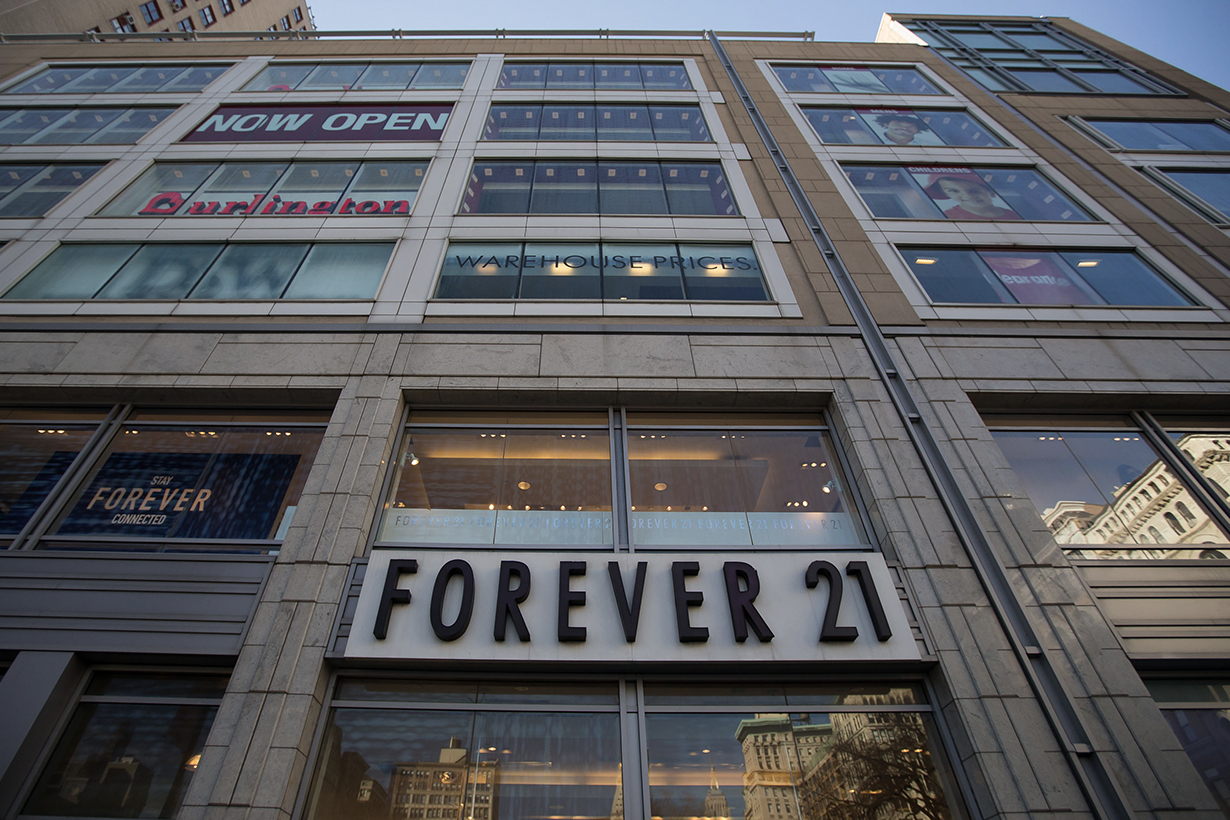Forever 21 closing stores bankrupt insolvenc