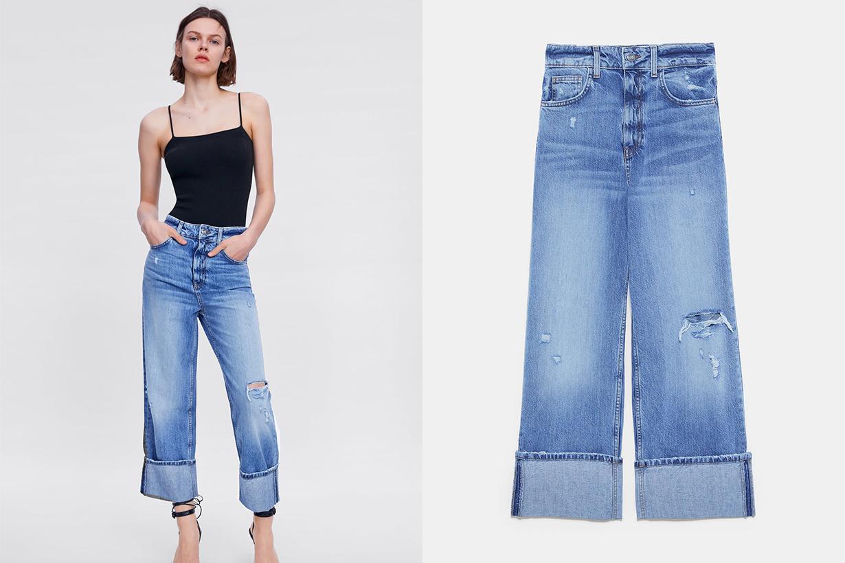 Z1975 Ripped Wide-Leg Jeans