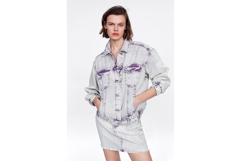 Zara Acid Wash Denim Jeans