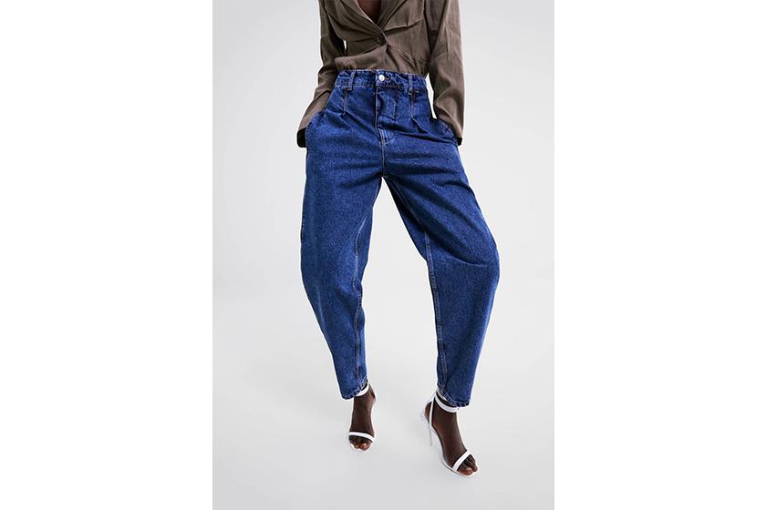 Zara Pleated Denim Jeans