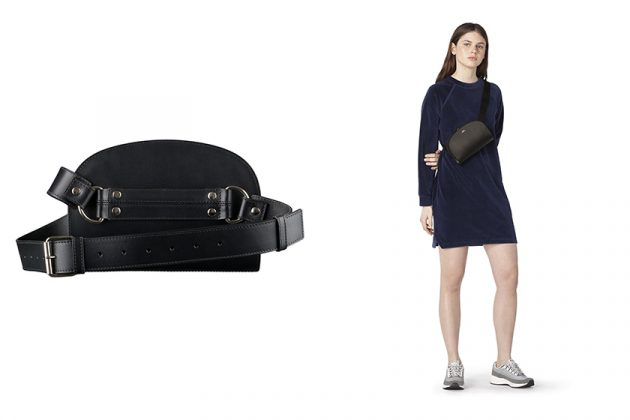 A.P.C Half-Moon Waist Bag BELT BAG BLACK Minimalists