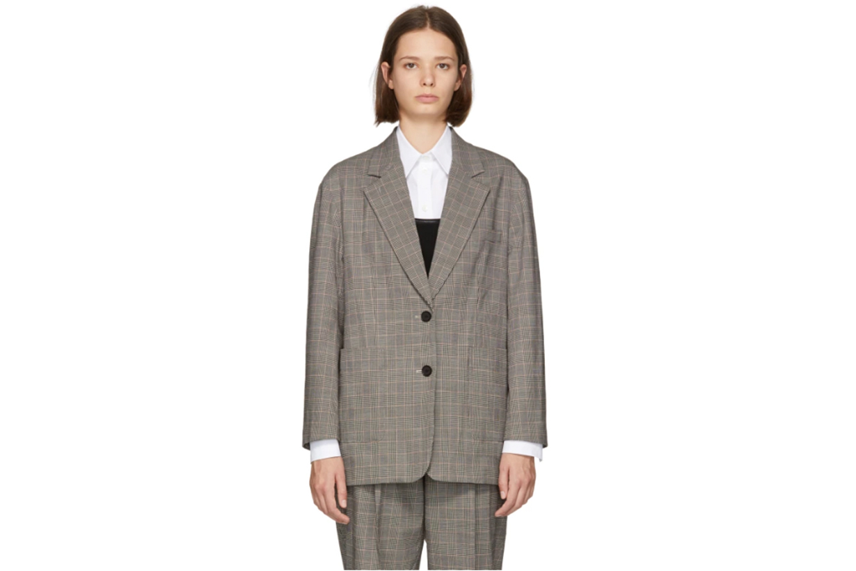 3.1 Phillip Lim Black & White Check Oversized Blazer