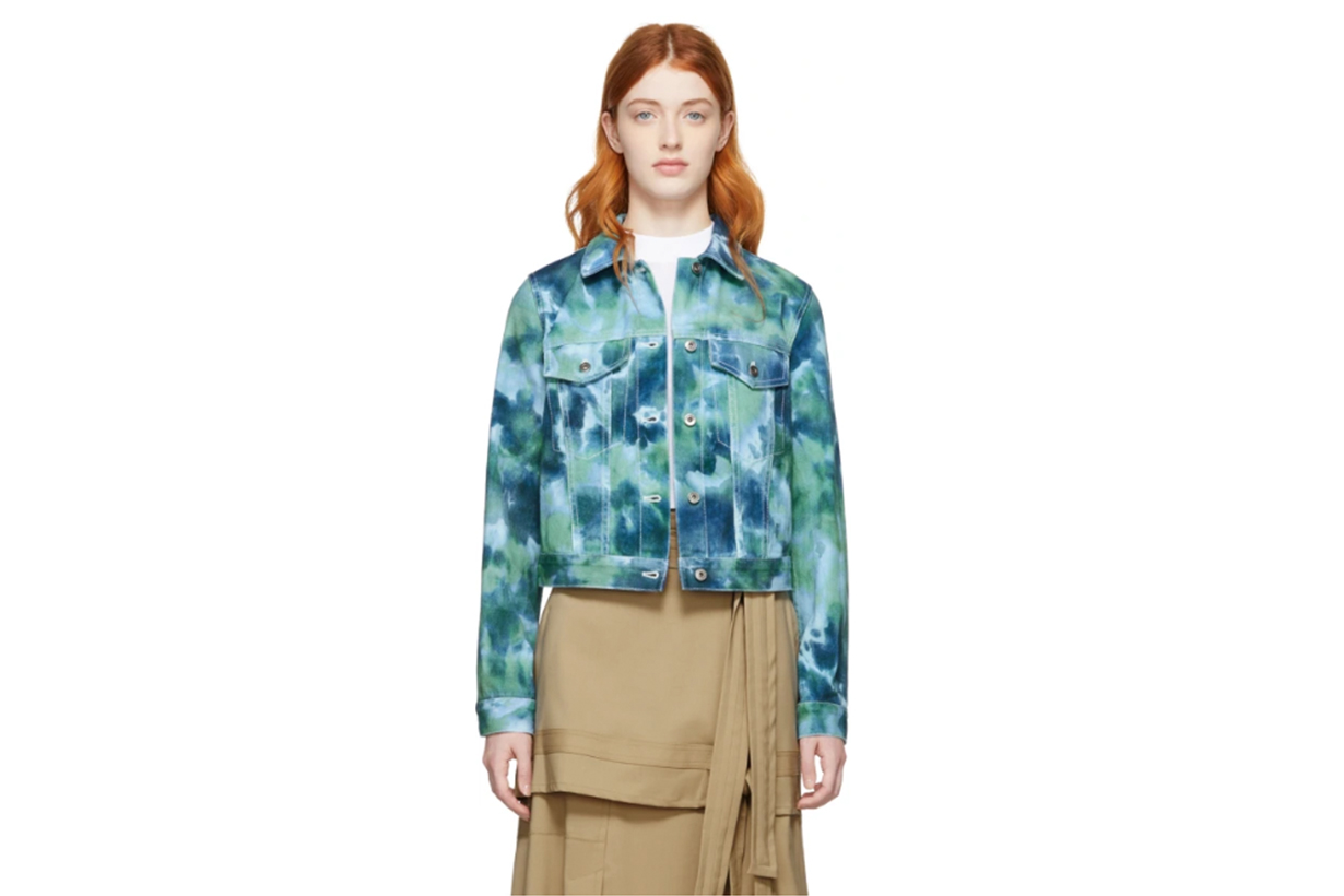 3.1 Phillip Lim Blue & Green Denim Tie-Dye Jacket