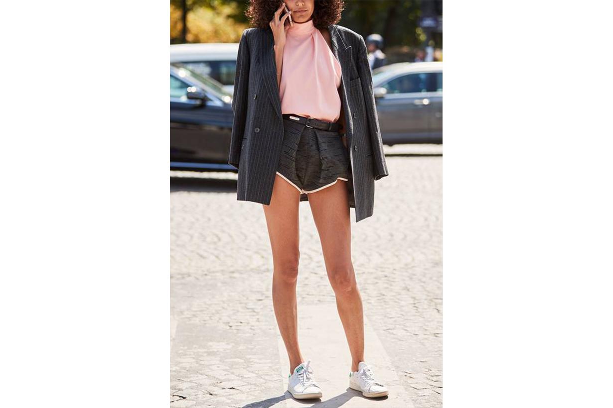 Dubai Street Style Blazer and Sport Shorts Fashion