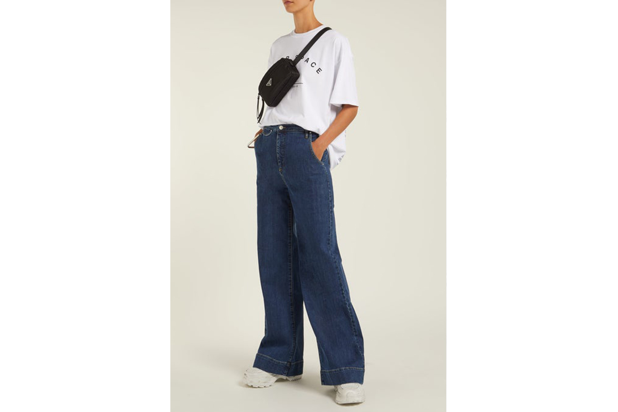 Anita Wide-Leg Denim Jeans