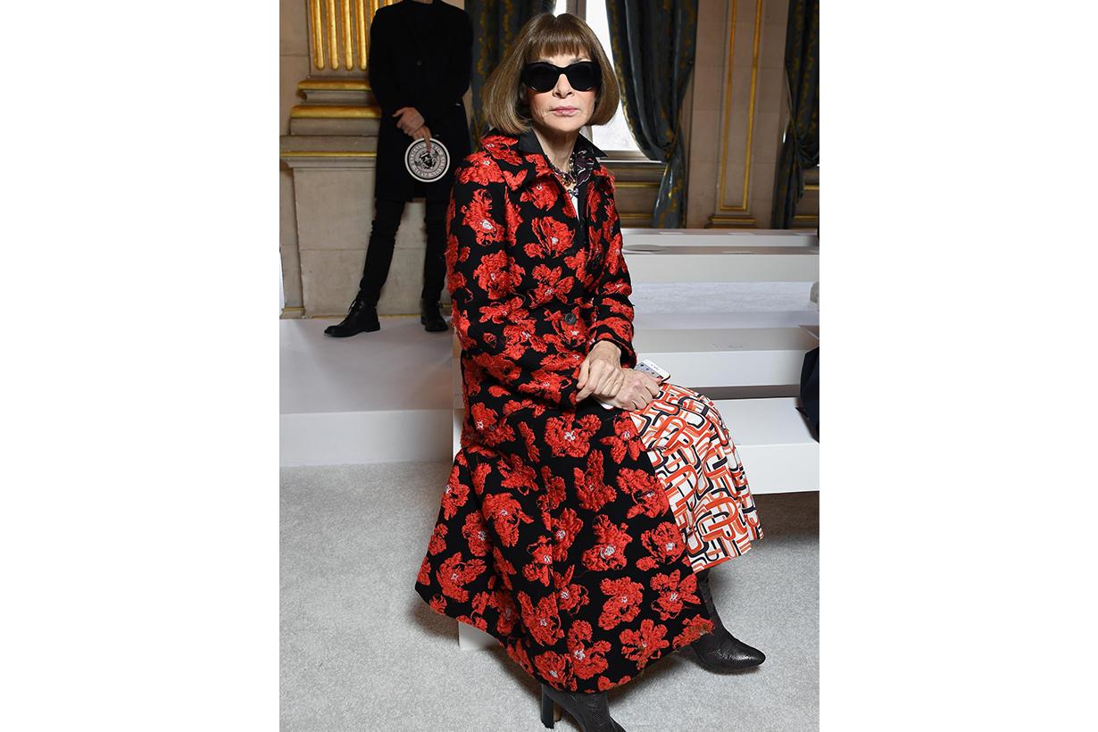Anna Wintour Floral Midi Dress