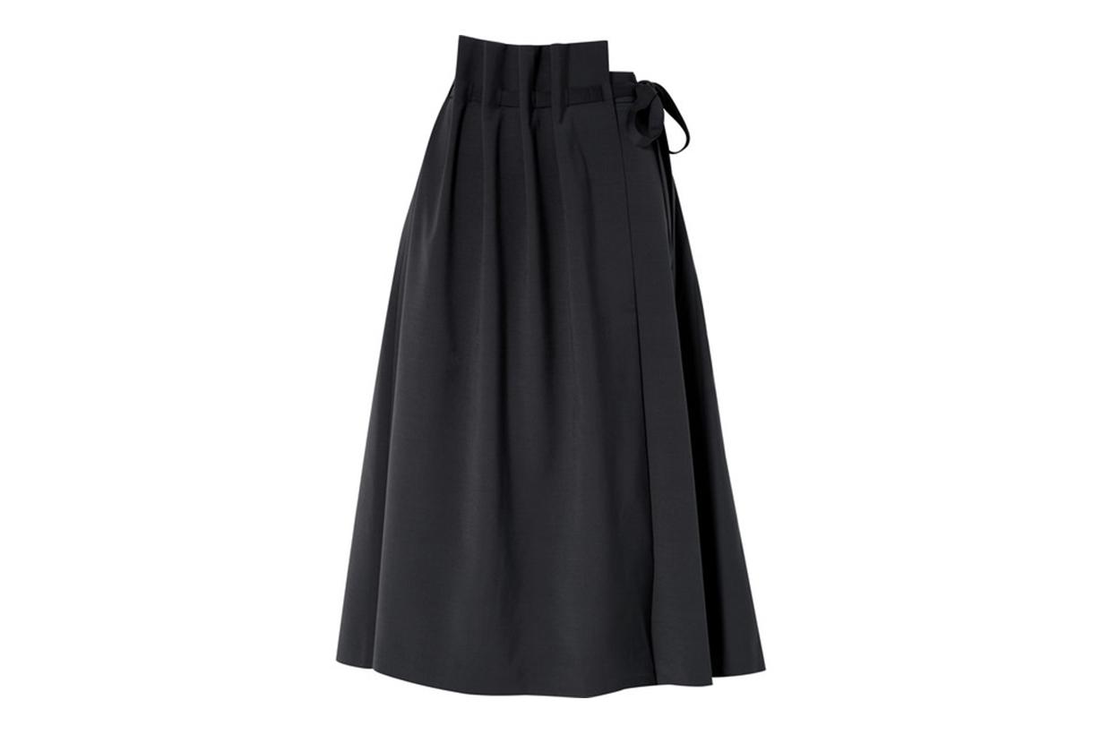 Asymmetric Woven Wrap Skirt