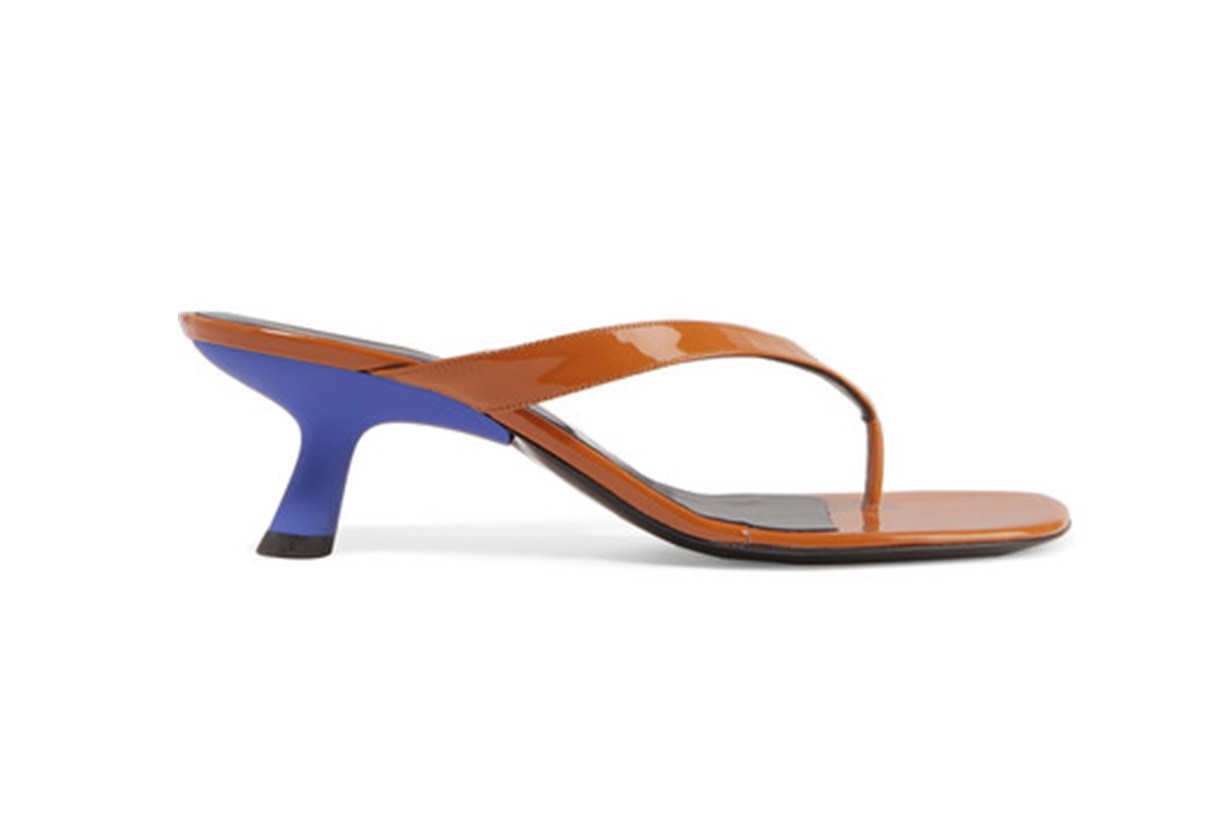 Beep Patent-Leather Sandals